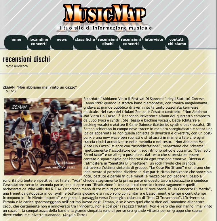 zeman recensione music map